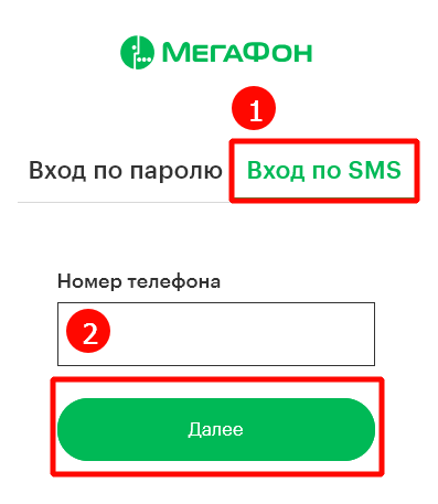 Авторизации по SMS.